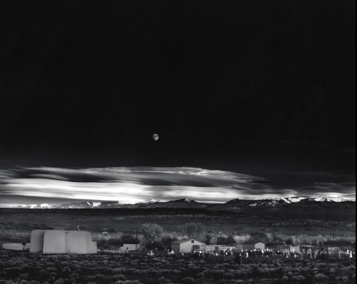 Ansel Adams Moonrise Over Hernandez