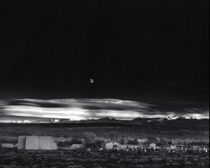 Ansel Adams Moonrise Over Hernandez