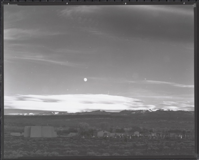 Ansel Adams Moonrise Over Hernandez Contact Print