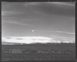 Ansel Adams Moonrise Over Hernandez Contact Print